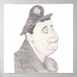 Jackie Gleason Caricature Poster