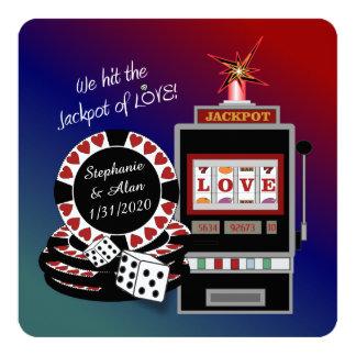 Jackpot of Love Reception Invitation
