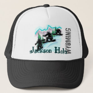Jackson Hole Wyoming snowboard hat