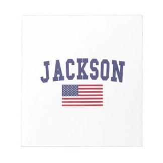Jackson TN US Flag Notepad