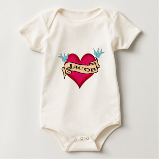 Jacob - Custom Heart Tattoo T-shirts & Gifts