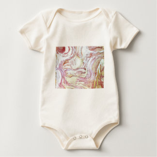 Jacob wrestling with the angel(abstract  painting) baby bodysuit