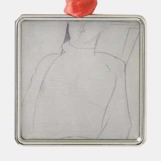 Jacques Lipchitz  c.1917 Silver-Colored Square Decoration
