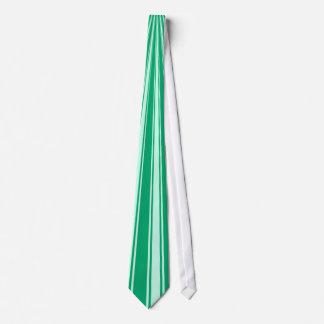 Jade Color Stripe Funky Pattern Tie