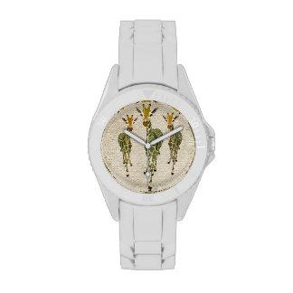 Jade & Gold Giraffes Watch
