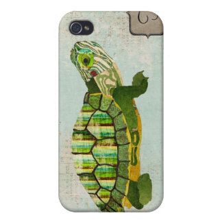 Jade Turtle Monogram i Cover For iPhone 4