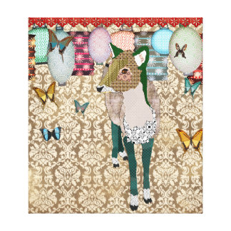 Jaded Asian Deer Art Canvas Gallery Wrapped Canvas