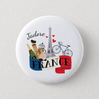 Jadore France 6 Cm Round Badge