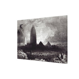 Jagannath Temple, engraved by A. Picken, 1837 Canvas Print