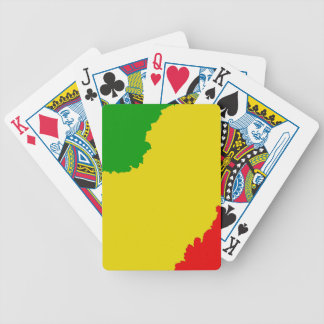 Jagged Rasta Stripes Poker Deck