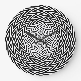 Jaggy Pattern Optical Illusion Wall Clock