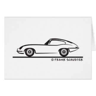 Jaguar E-Type Coupe Card