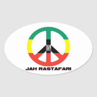 Jah Rastafari Peace Sign Selassie I Stickers