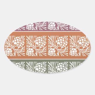 JAI MATA DI - Holistic Patterns n Color Grids Oval Stickers