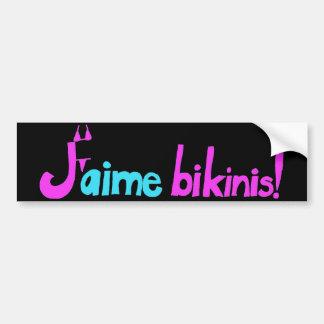 J'aime bikinis! bumper stickers