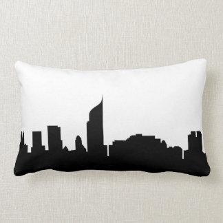 jakarta city skyline silhouette indonesia lumbar pillow