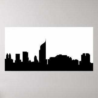 jakarta city skyline silhouette indonesia poster