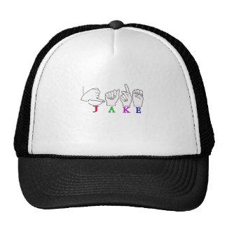 JAKE ASL FINGERSPELLED NAME SIGN MALE CAP