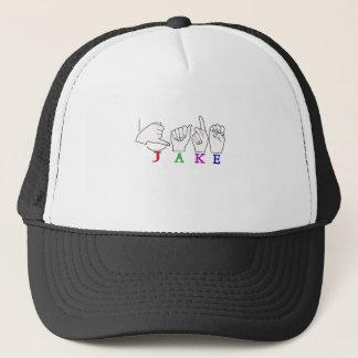 JAKE ASL FINGERSPELLED NAME SIGN MALE TRUCKER HAT