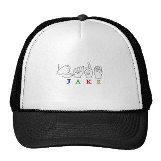 JAKE FINGERSPELLED NAME ASL SIGN CAP