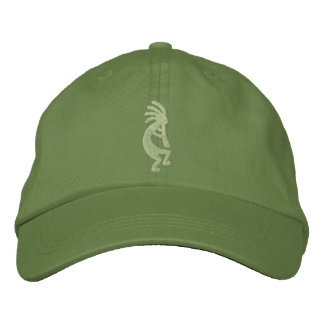 Jalapeno and Cactus Green Kokopelli Embroidered Hat