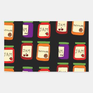 jam rectangular sticker