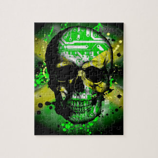 Jamaica circuit Skull Jigsaw Puzzle