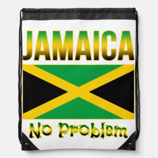 Jamaica Flag No Problem Drawstring Bag