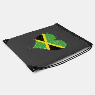 Jamaica Flag Shining Beautiful Drawstring Bag