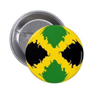 Jamaica Gnarly Flag Pinback Button