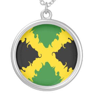 Jamaica Gnarly Flag Round Pendant Necklace