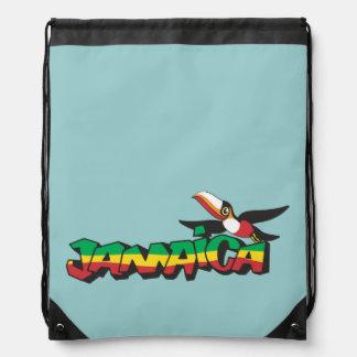 Jamaica Parrot in Three Colors Drawstring Bag