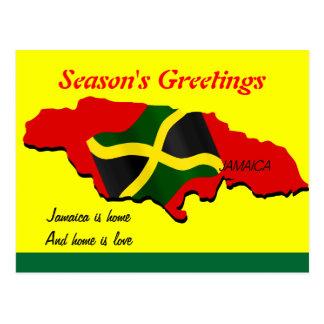 Jamaica season's greetings postcards