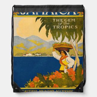 Jamaica, the gem of the tropics drawstring bag
