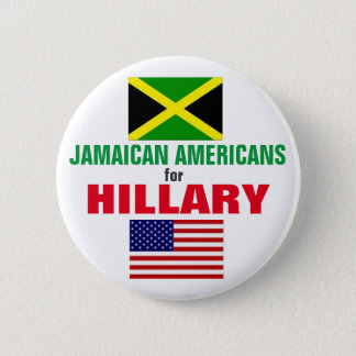 Jamaican Americans for Hillary 2016 6 Cm Round Badge