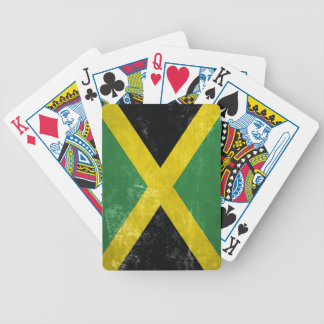 Jamaican Flag Bicycle Playing Cards