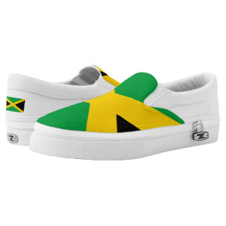Jamaican flag slip on shoes