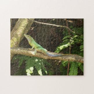 Jamaican Green Lizard Jigsaw Puzzle