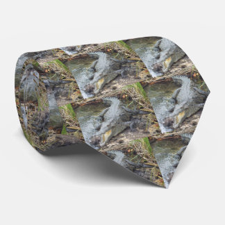 Jamaican Salt Water Crocodile Tie