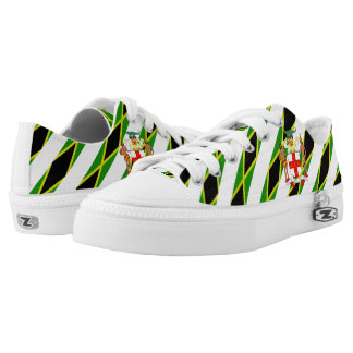 Jamaican stripes flag low tops