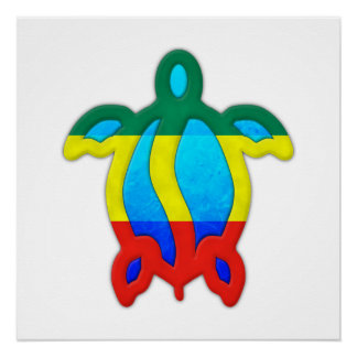 Jamaican Turtle Poster
