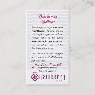 Jamberry business cards zazzle nz jamberry sample instruction card reheart Image collections