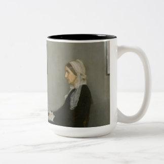 James Abbott Whistler - Whistler's Mother Two-Tone Coffee Mug