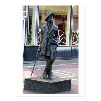 James Joyce, Irish author sculpture, Dublin city Postcard