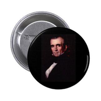 James K. Polk 11th US President 6 Cm Round Badge