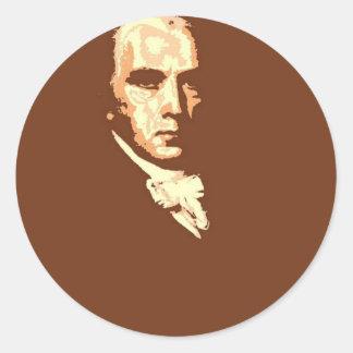 James Madison 4 Classic Round Sticker
