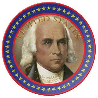 james madison 4th President Plate