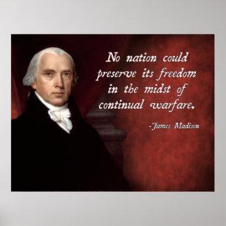 James Madison Anti-War Poster