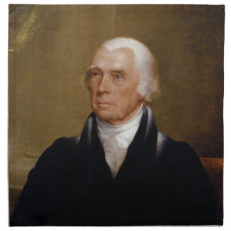 James Madison by Chester Harding (1830) Printed Napkin
