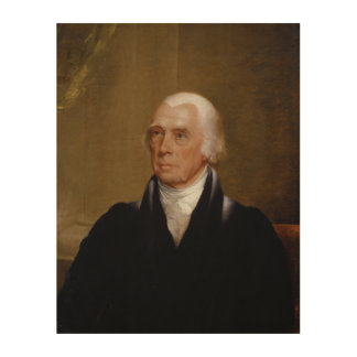 James Madison by Chester Harding (1830) Wood Prints
